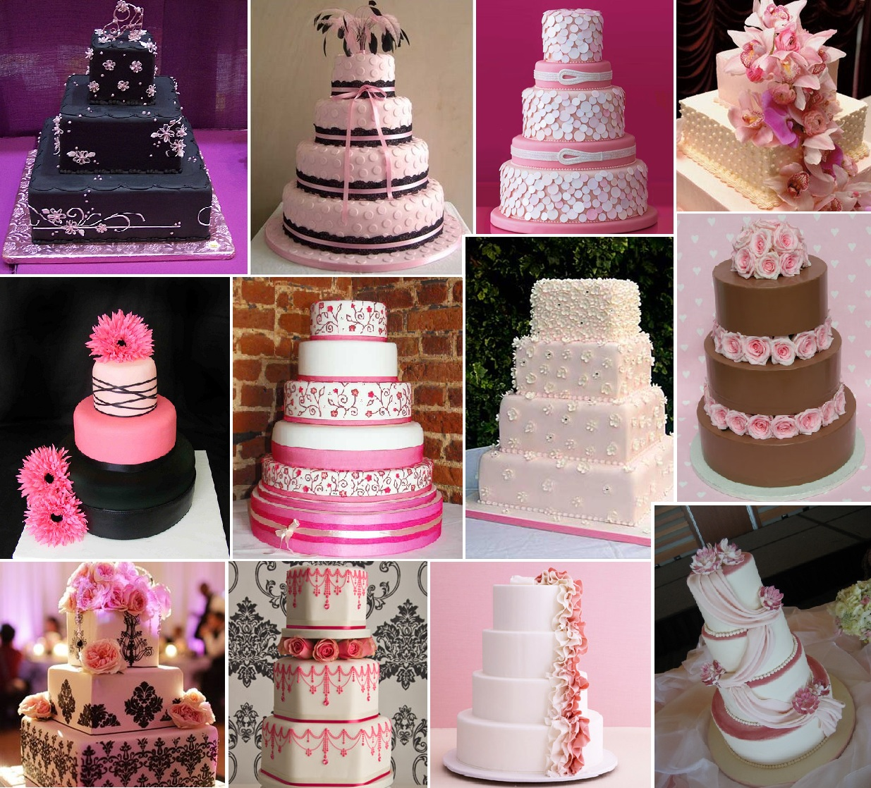 Inspiration Board: Pink Wedding Cake